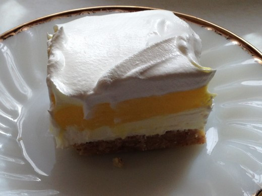Layered Lemon Dessert  Layered Desserts Staples of Church Socials