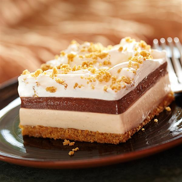 Layered Pudding Desserts  Creamy Peanut Butter and Chocolate Layered Dessert
