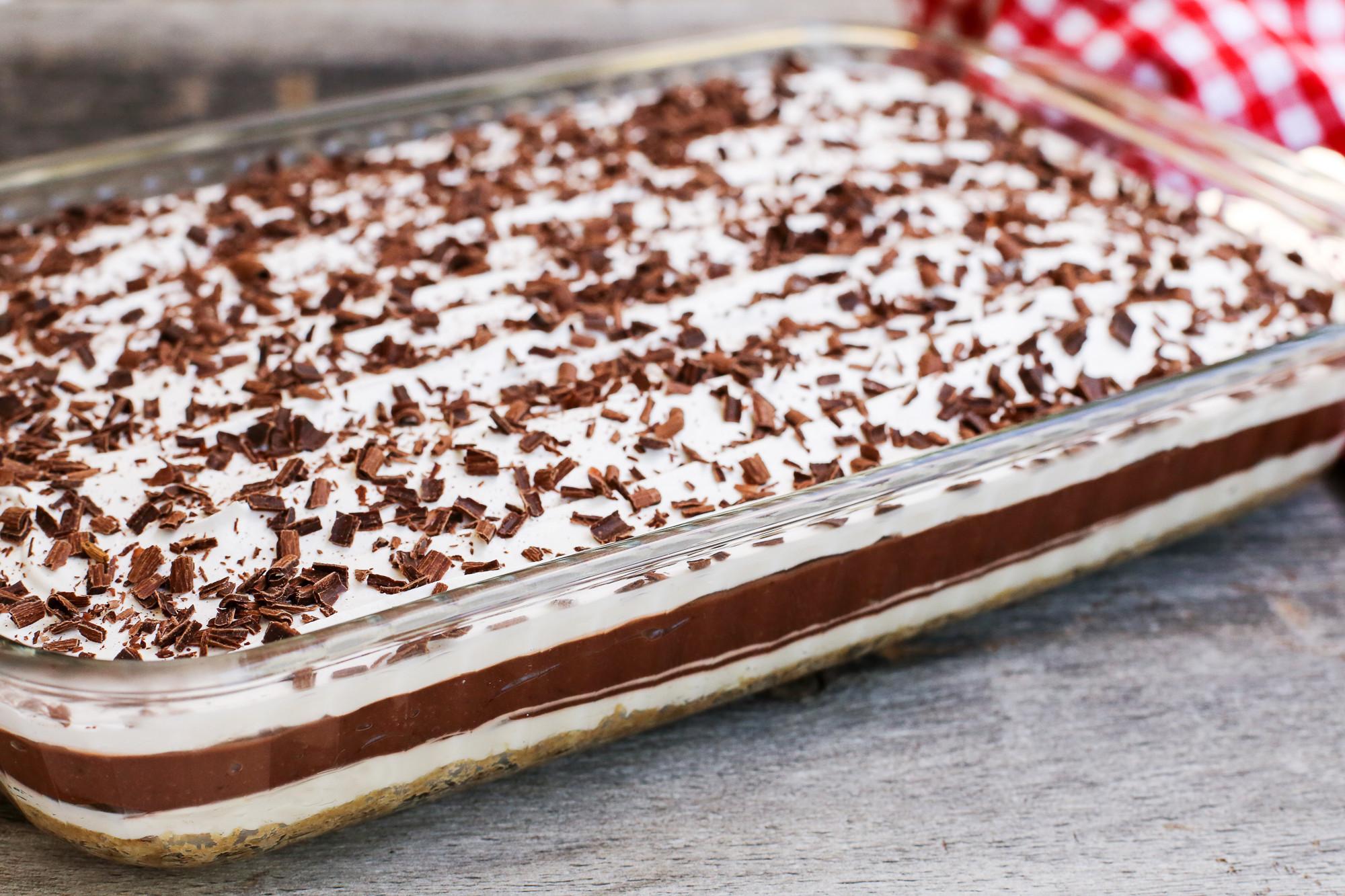 Layered Pudding Desserts  Layered Chocolate Pudding Dessert