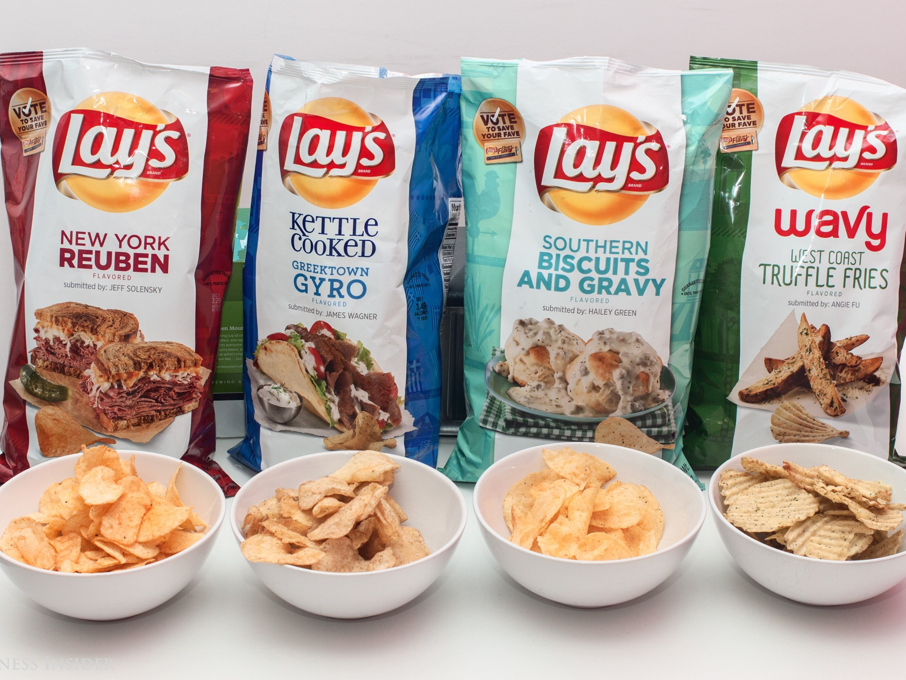 Lays Potato Chips Flavors List  Frito Lays flavor contest 2015 Business Insider