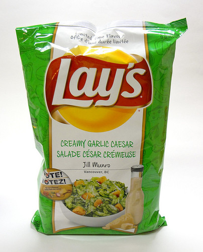 Lays Potato Chips Flavors List  Lay's Canada's Do Us A Flavour Finalist – Creamy Garlic