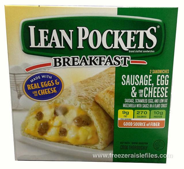 Lean Breakfast Meat  Lean Pockets Breakfast Sausage Egg & Cheese