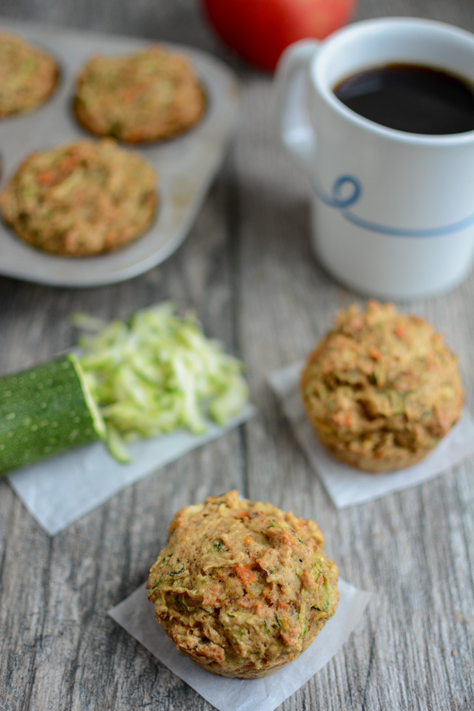 Lean Green Bean  Zucchini Carrot Apple Muffins