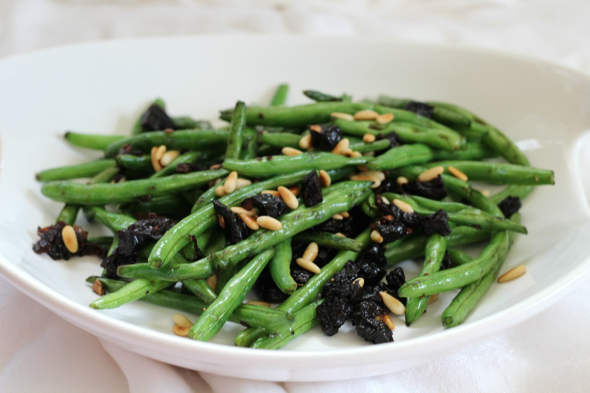 Lean Green Bean  Sauteed Green Beans with Pine Nuts & Plums Eat Real Food