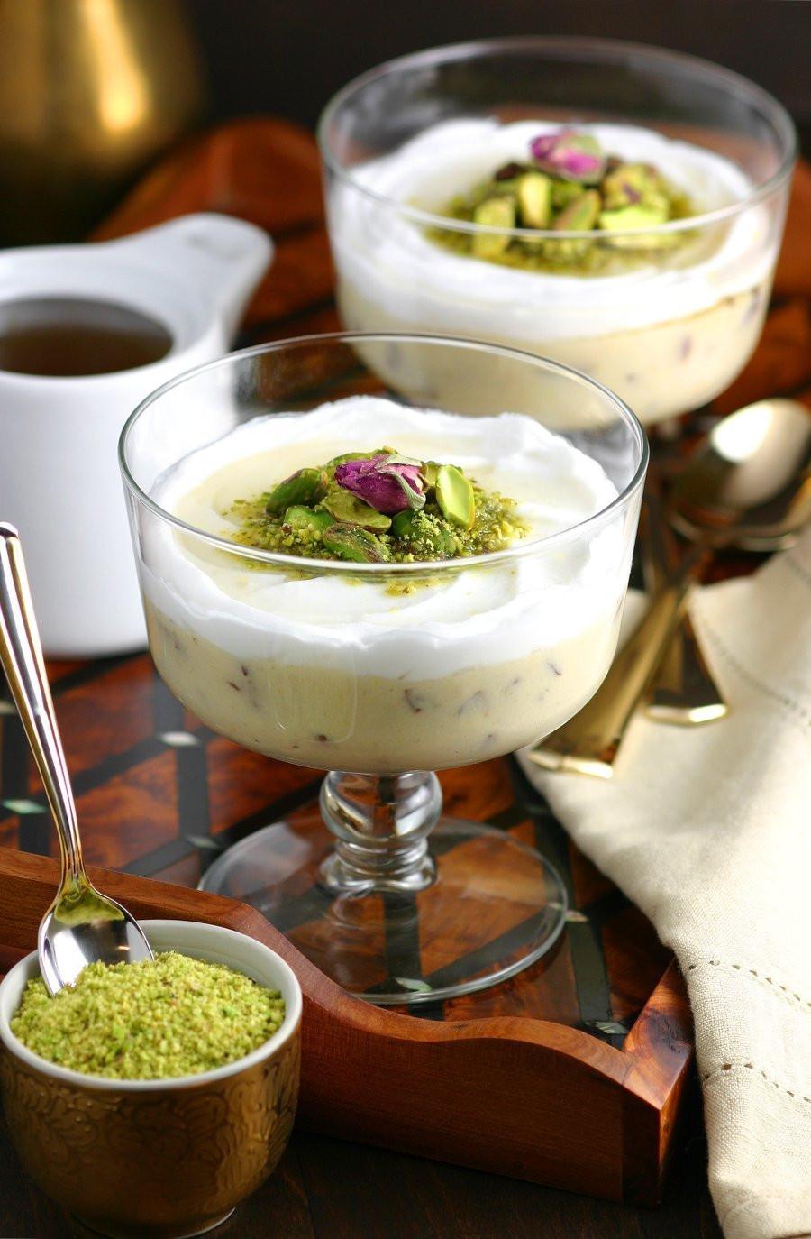 Lebanese Desserts Recipe  Lebanese Semolina Pudding Layali Lubnan