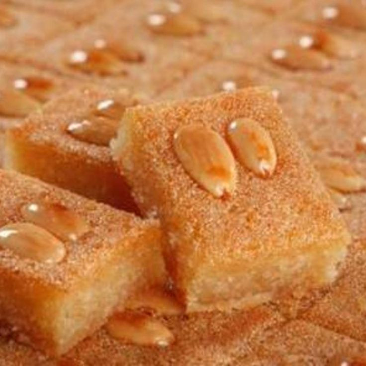 Lebanese Desserts Recipe  Namoura Lebanese Semolina Cake Recipe