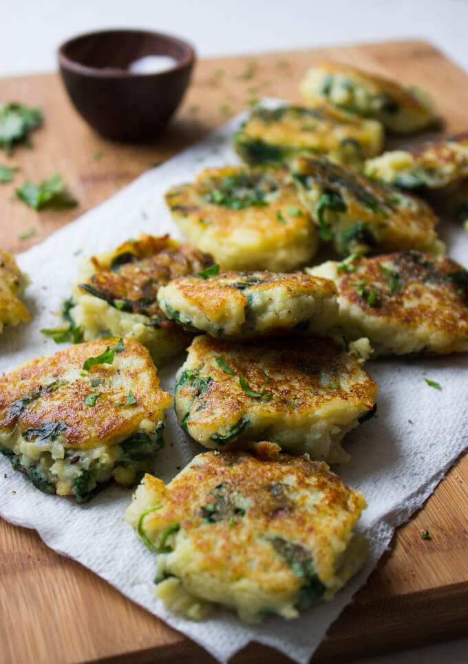 Leftover Mashed Potato Cakes  Leftover Mashed Potato Cakes with Spinach Little Broken
