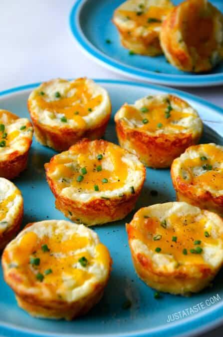 Leftover Mashed Potatoes Recipe  Cheesy Leftover Mashed Potato Muffins