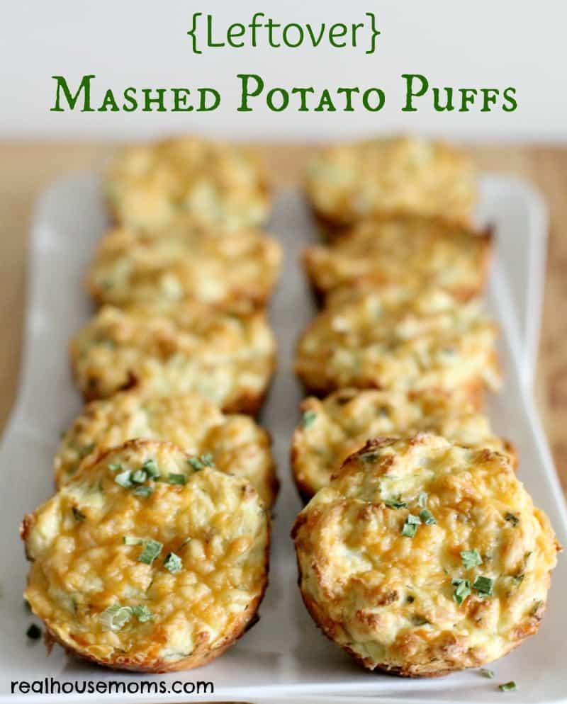 Leftover Mashed Potatoes Recipe  Leftover Mashed Potato Puffs