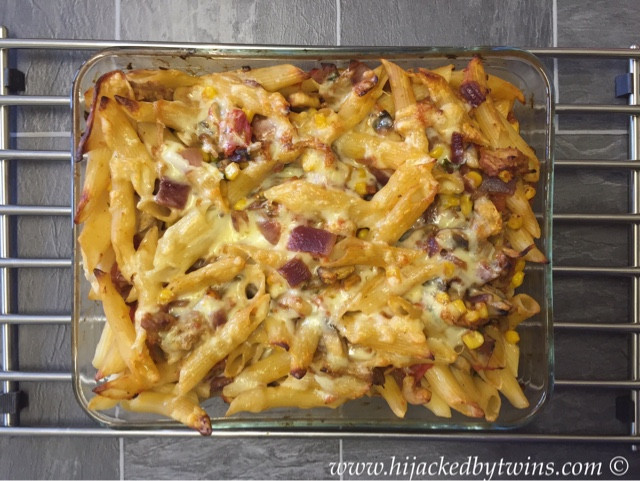 Leftover Pulled Pork Casserole  Hijacked By Twins Leftover Pulled Pork Pasta Bake with Aldi