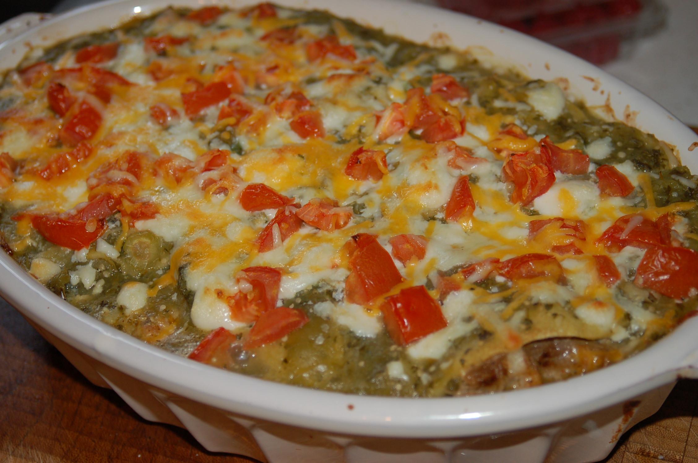 Leftover Pulled Pork Casserole  Shredded Pork Enchilada Casserole