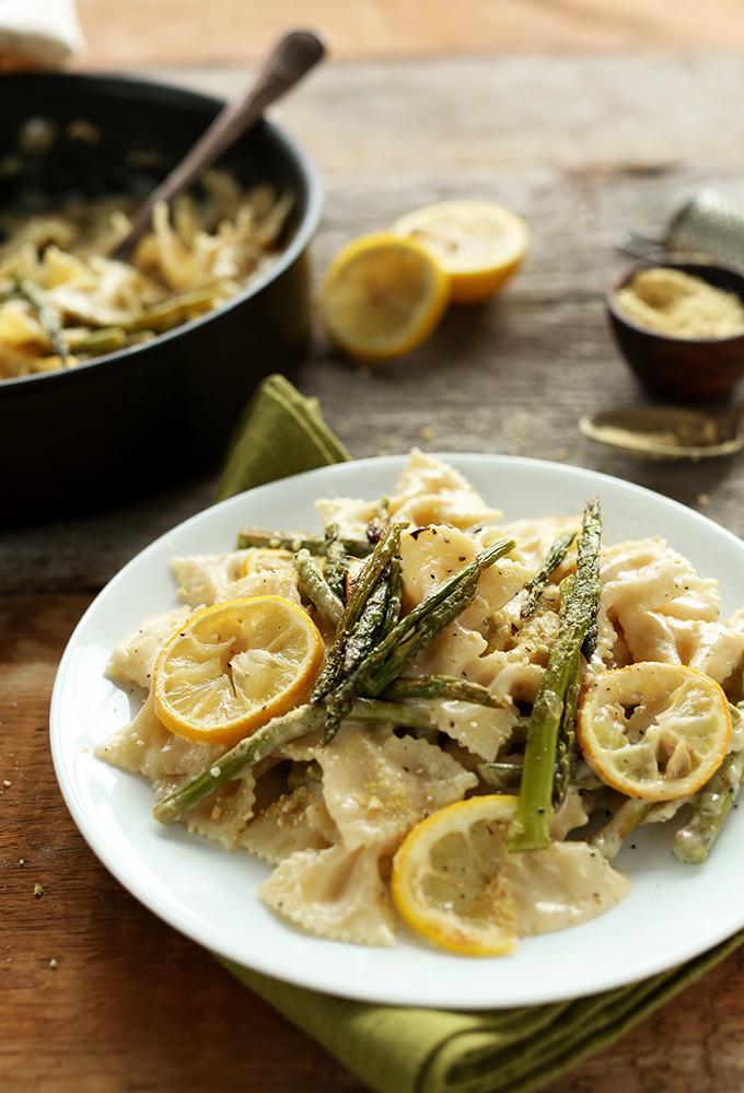 Lemon Asparagus Pasta  Vegan Lemon Asparagus Pasta