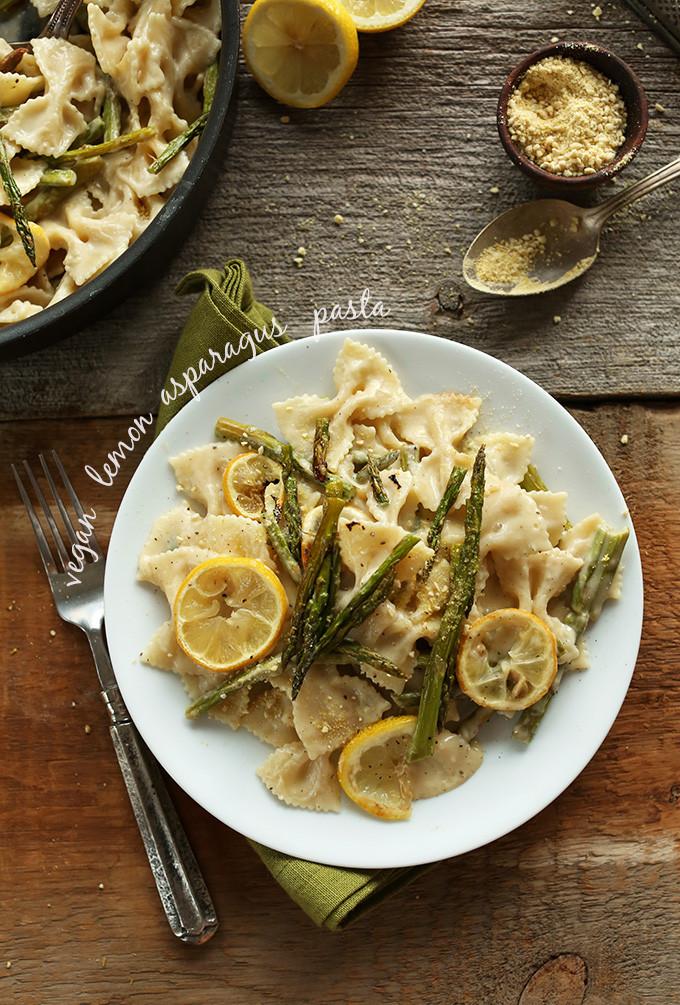 Lemon Asparagus Pasta  This Week s Vegan Menu Plan