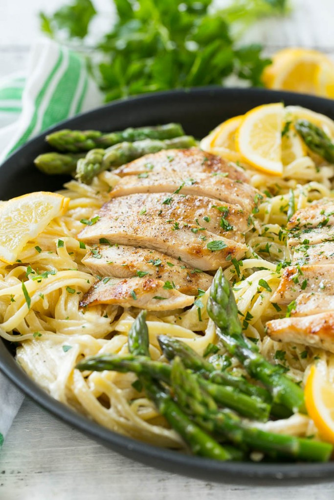 Lemon Asparagus Pasta  Lemon Asparagus Pasta with Grilled Chicken Dinner at the Zoo
