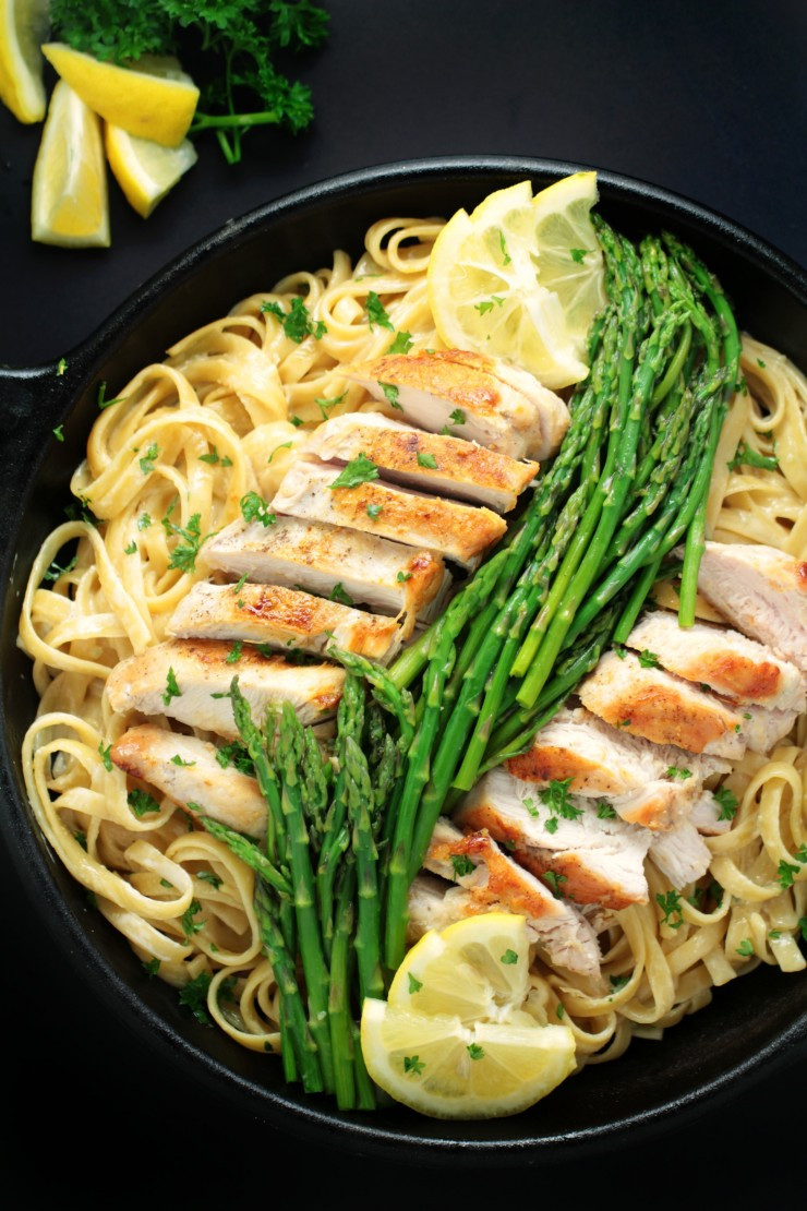 Lemon Asparagus Pasta  Lemon Chicken & Asparagus Pasta Frugal Mom Eh