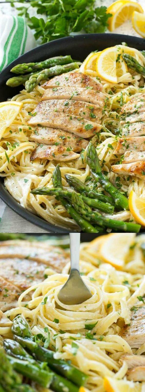 Lemon Asparagus Pasta  17 Best images about Grilled chicken on Pinterest