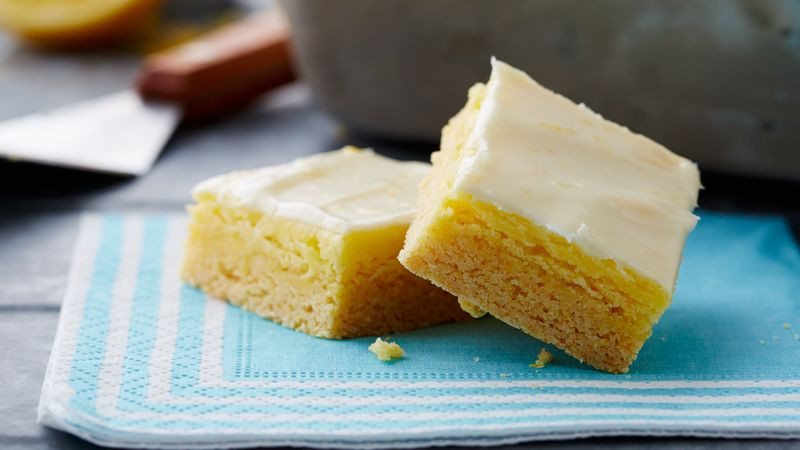 Lemon Bars With Cake Mix  Lemon Cheesecake Bars recipe from Betty Crocker