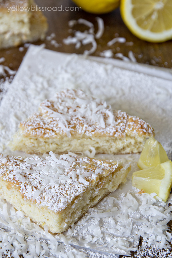 Lemon Bars With Cake Mix  Lemon Coconut Cake Mix Bars Yellow Bliss Road