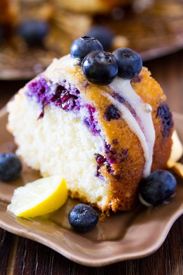 Lemon Blueberry Bundt Cake  Lemon Blueberry Cake with Cream Cheese Icing