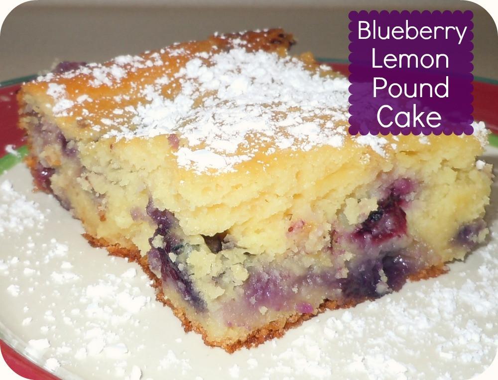 Lemon Blueberry Pound Cake  Blueberry Lemon Pound Cake Recipe