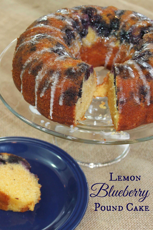 Lemon Blueberry Pound Cake  lemon blueberry pound cake foo extravaganza