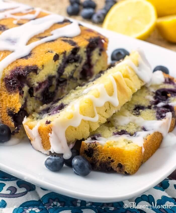 Lemon Blueberry Pound Cake  Glazed Lemon Blueberry Pound Cake Flavor Mosaic