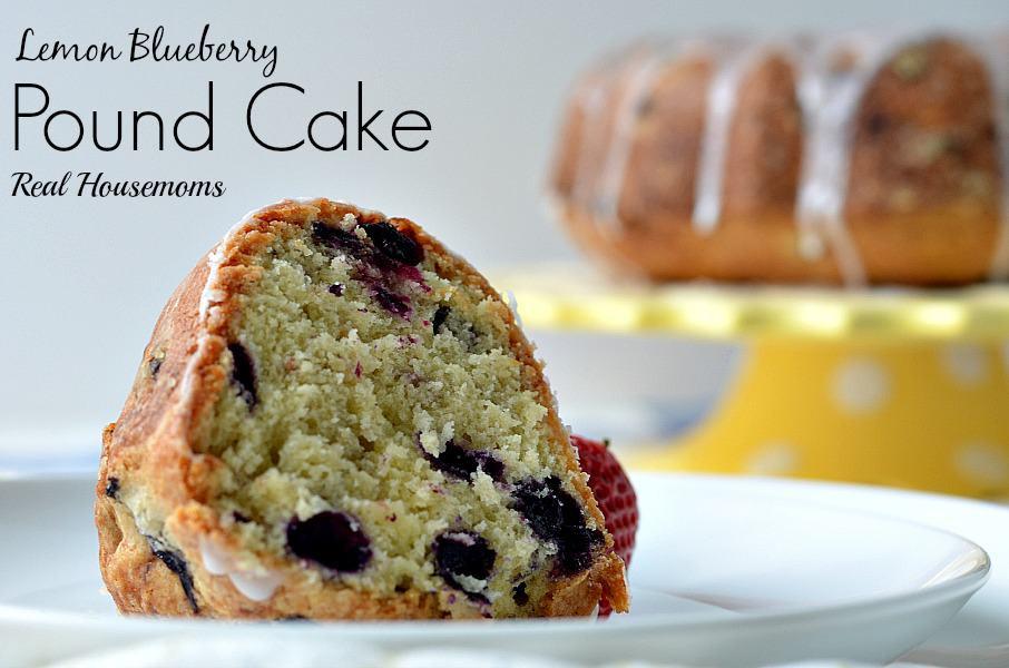 Lemon Blueberry Pound Cake  Lemon Blueberry Pound Cake Real Housemoms