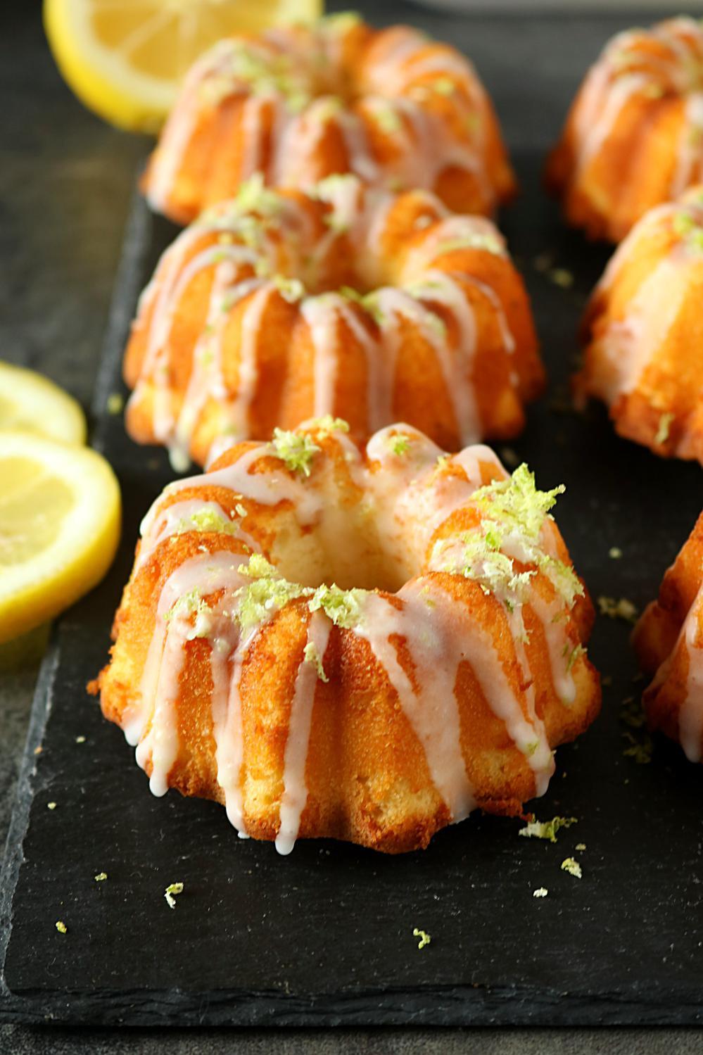 Lemon Bundt Cake  Mini Lemon Bundt Cakes Mini Lemon Bundtlette how to make