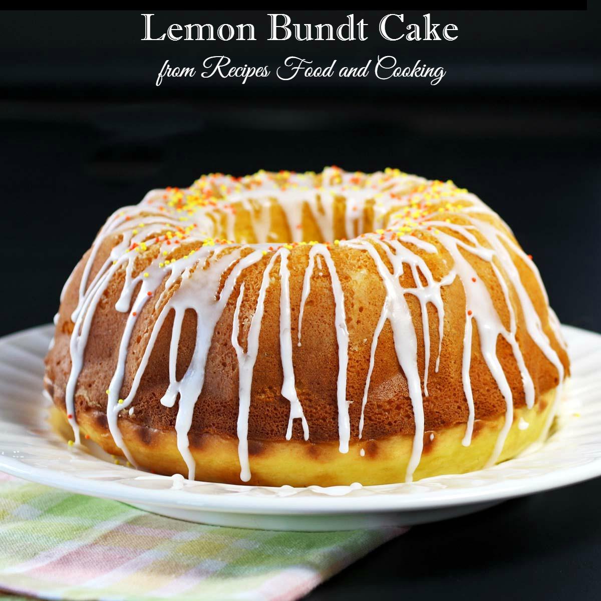 Lemon Bundt Cake  Lemon Bundt Cake BundtBakers Recipes Food and Cooking