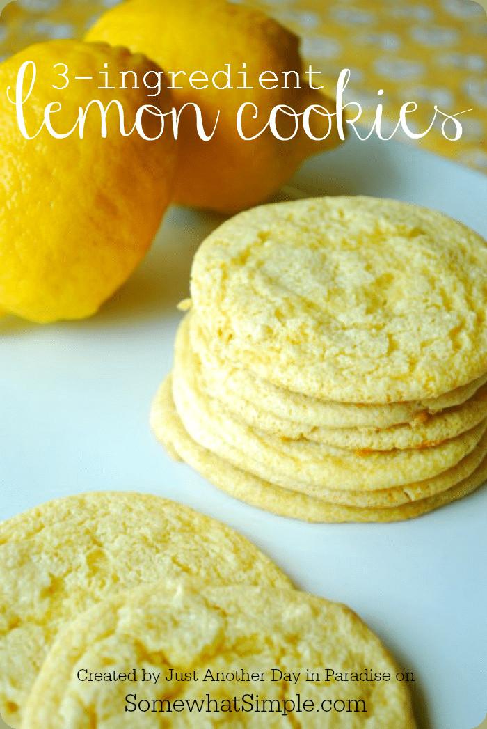 Lemon Cake Mix Cookies  3 Ingre nt Lemon Cookies Somewhat Simple