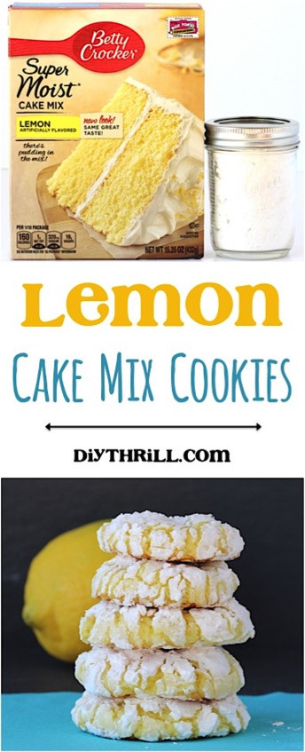 Lemon Cake Mix Cookies  Easy Lemon Cake Mix Cookies The Frugal Girls