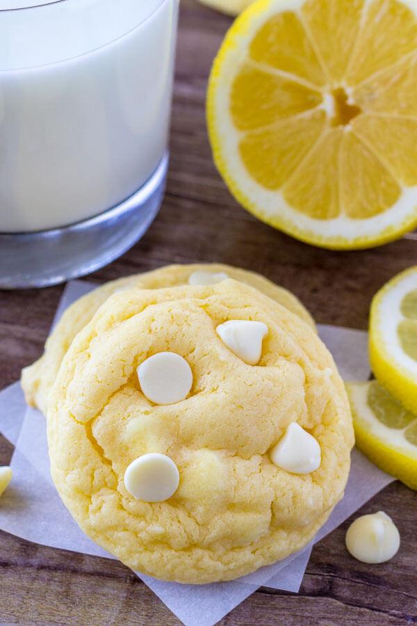 Lemon Cake Mix Cookies  Lemon Cake Mix Cookies Just so Tasty