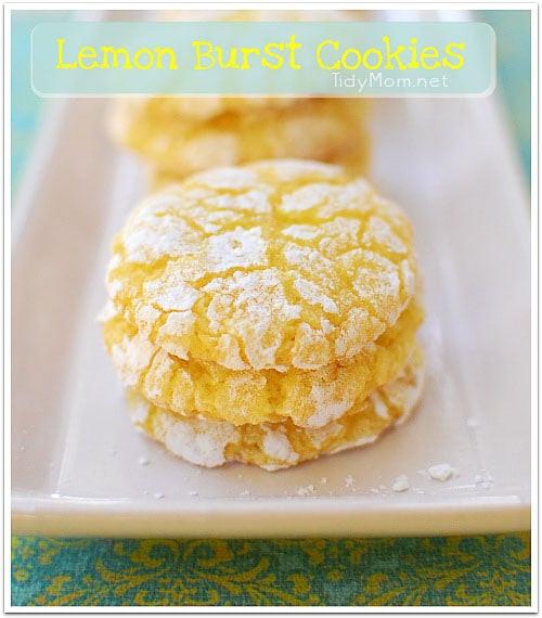 Lemon Cake Mix Cookies  Lemon Burst Cake Mix Cookies You Can t Say No To