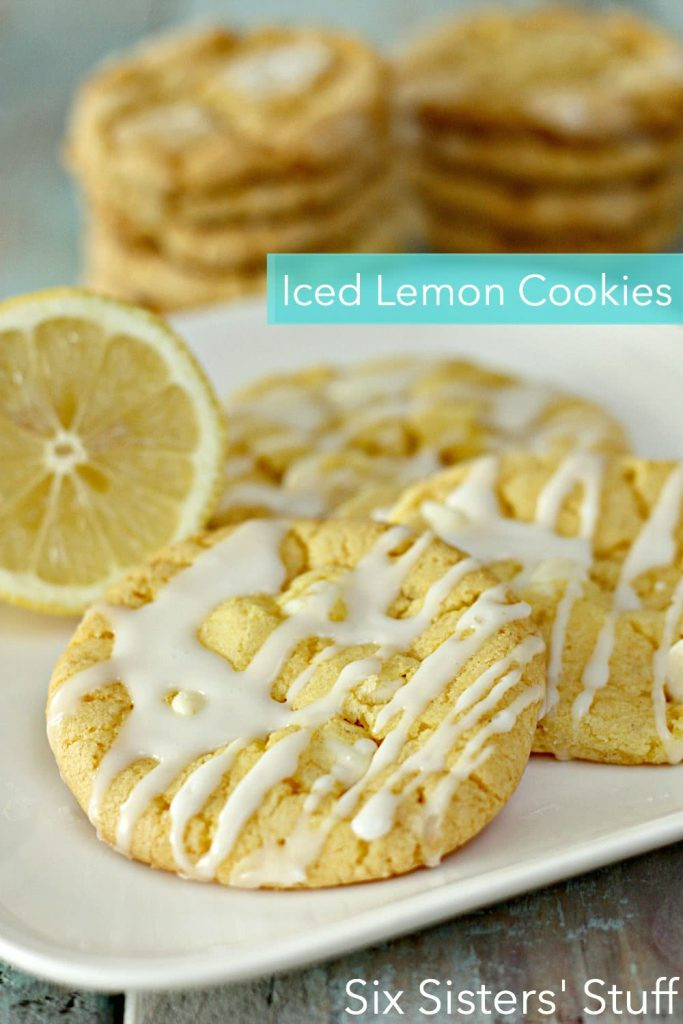 Lemon Cake Mix Cookies  Iced Lemon Cake Mix Cookies