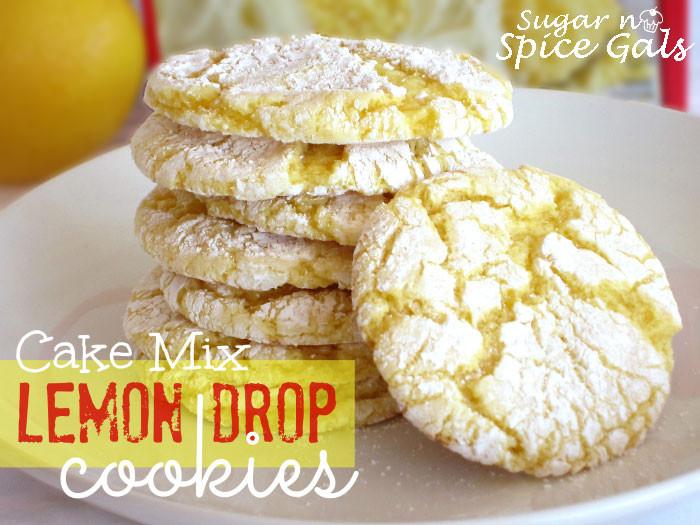 Lemon Cake Mix Cookies  Lemon Drop Cookies Sugar n Spice Gals
