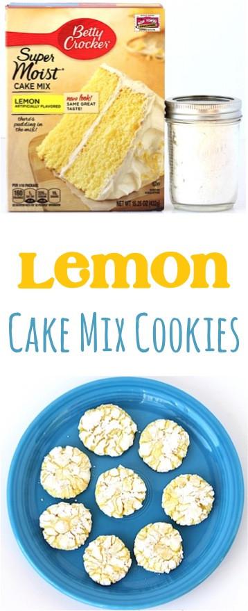 Lemon Cake Mix Cookies  Lemon Cake Mix Cookies Recipe 4 Ingre nts DIY Thrill