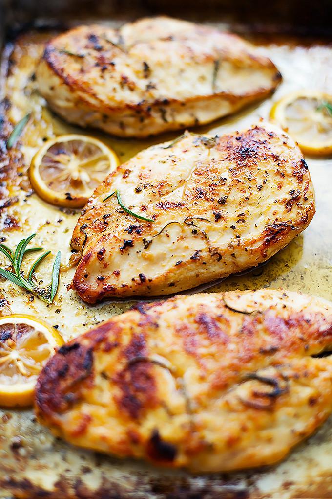 Lemon Chicken Baked  Easy Healthy Baked Lemon Chicken
