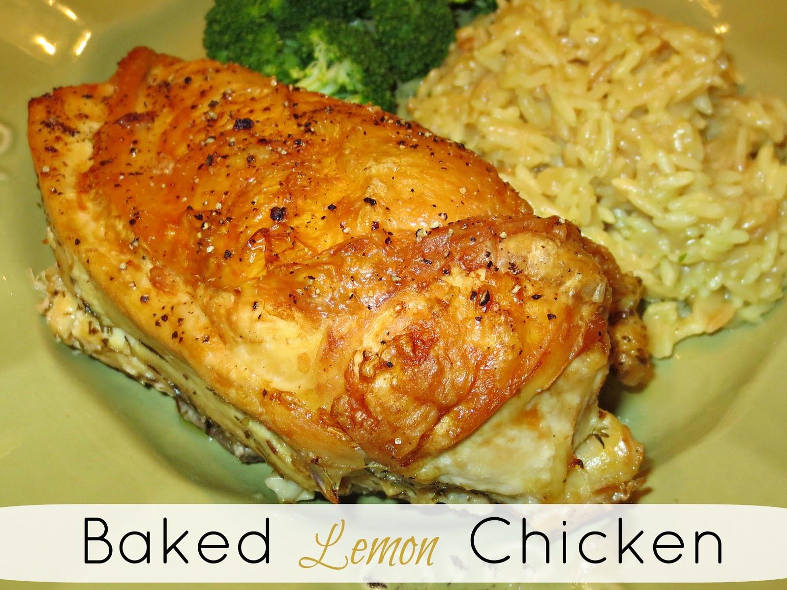 Lemon Chicken Baked  Kaitlin in the Kitchen Baked Lemon Chicken