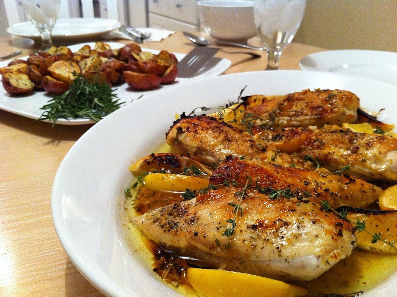 Lemon Chicken Baked  Baked Herb Lemon Chicken Andicakes