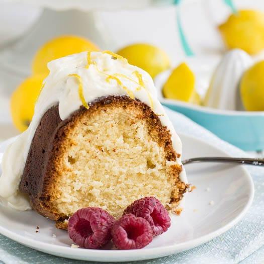 Lemon Cream Cheese Pound Cake  Lemon Cream Cheese Pound Cake with Frosting Spicy