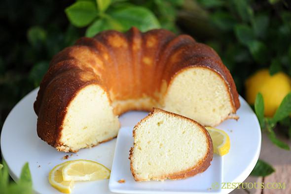 Lemon Cream Cheese Pound Cake  Lemon Cream Cheese Pound Cake from Zestuous