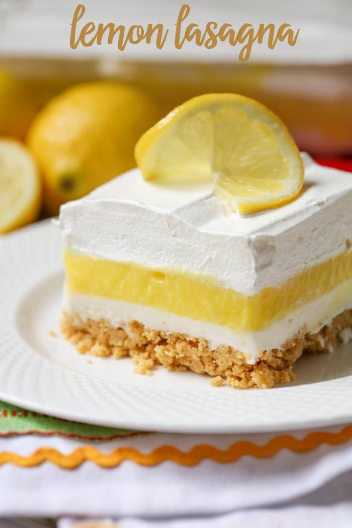 Lemon Desserts Recipes  Lemon Lasagna Recipe