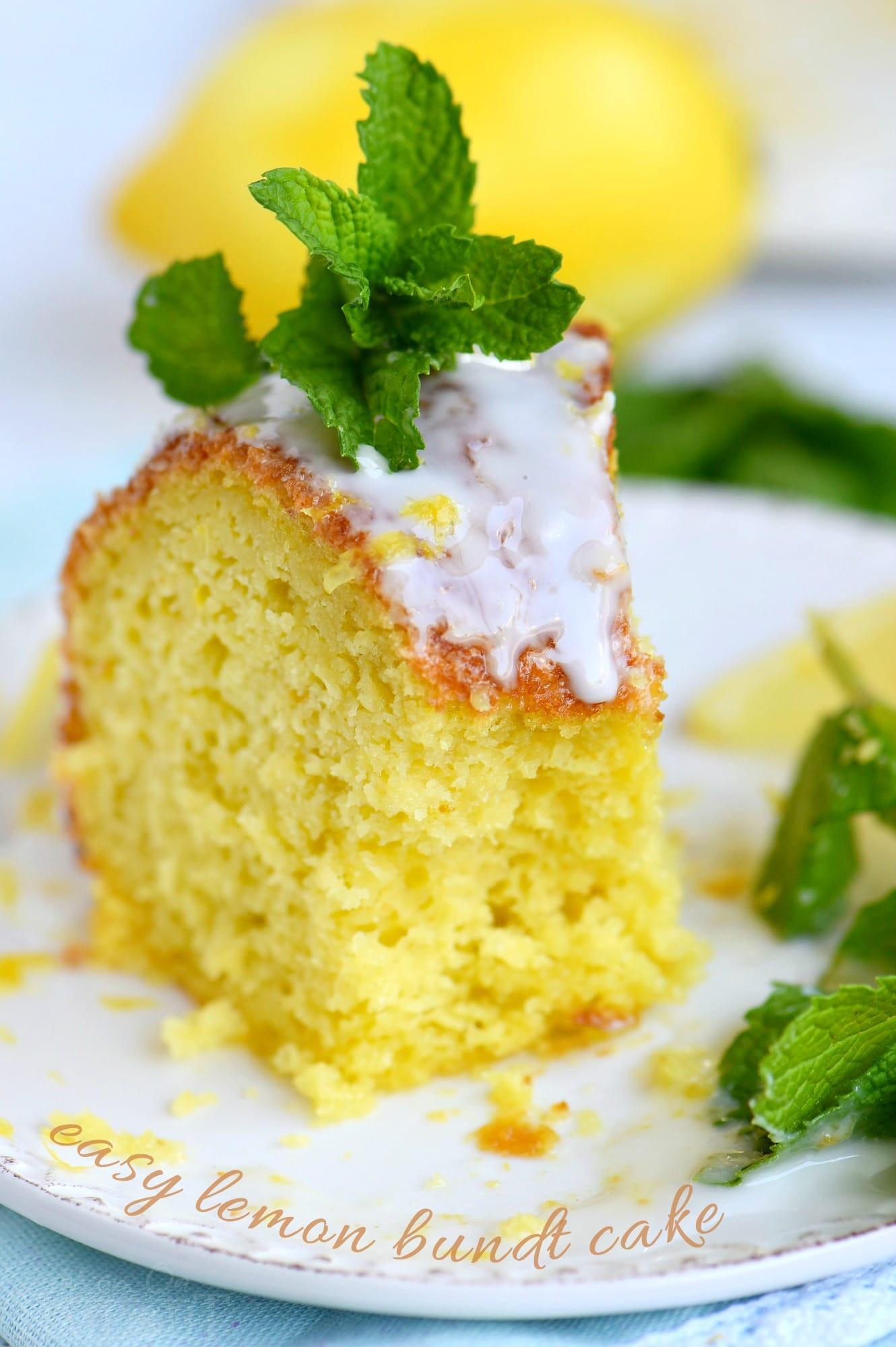 Lemon Desserts Recipes  Easy Lemon Bundt Cake Mom Timeout