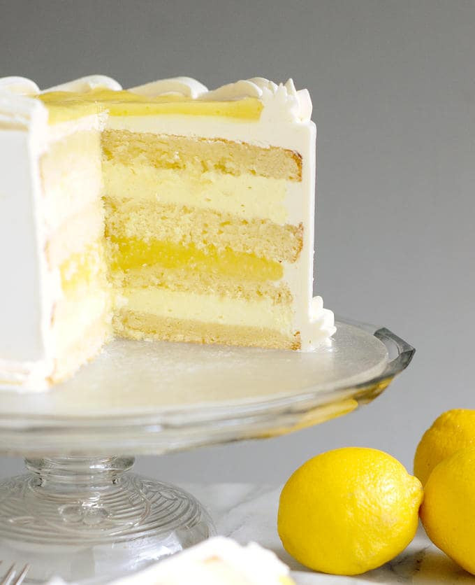 Lemon Layer Cake  Luscious Lemon Mousse Cake Layer cake perfection