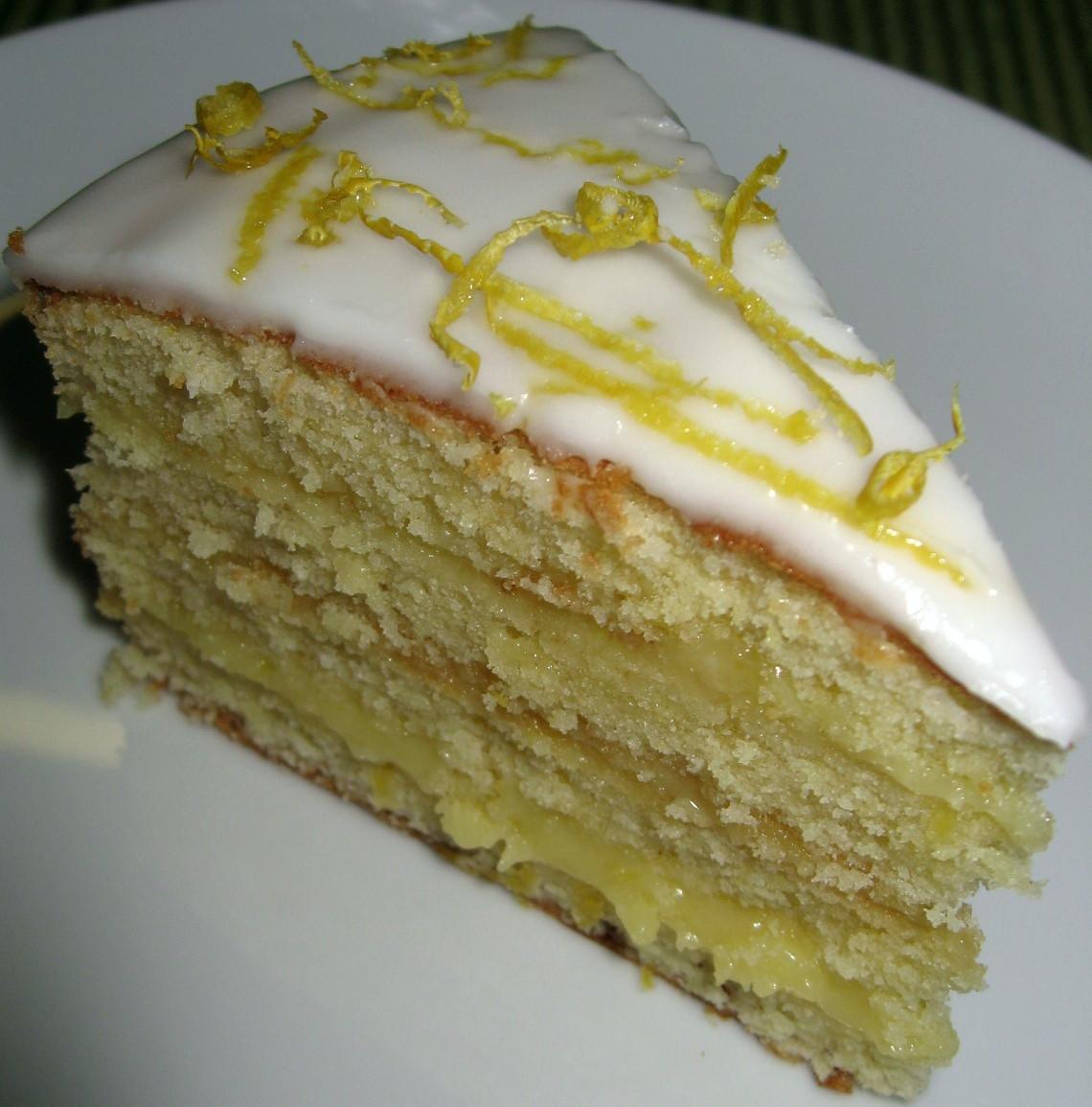 Lemon Layer Cake  Delia Smith Cakes