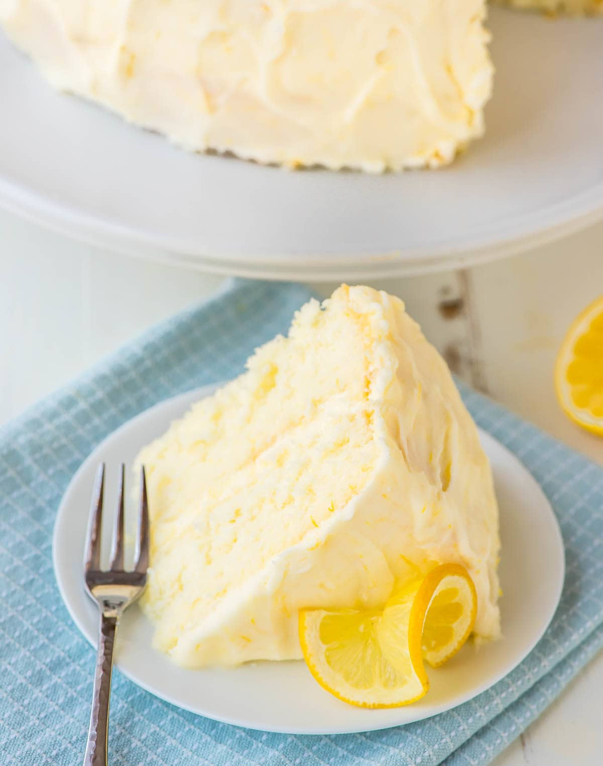 Lemon Layer Cake  Lemon Layer Cake with Lemon Cream Cheese Frosting