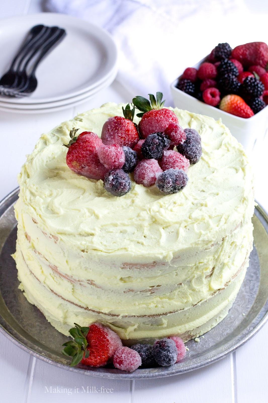 Lemon Layer Cake  Making it Milk free Lemon Layer Cake gluten free vegan