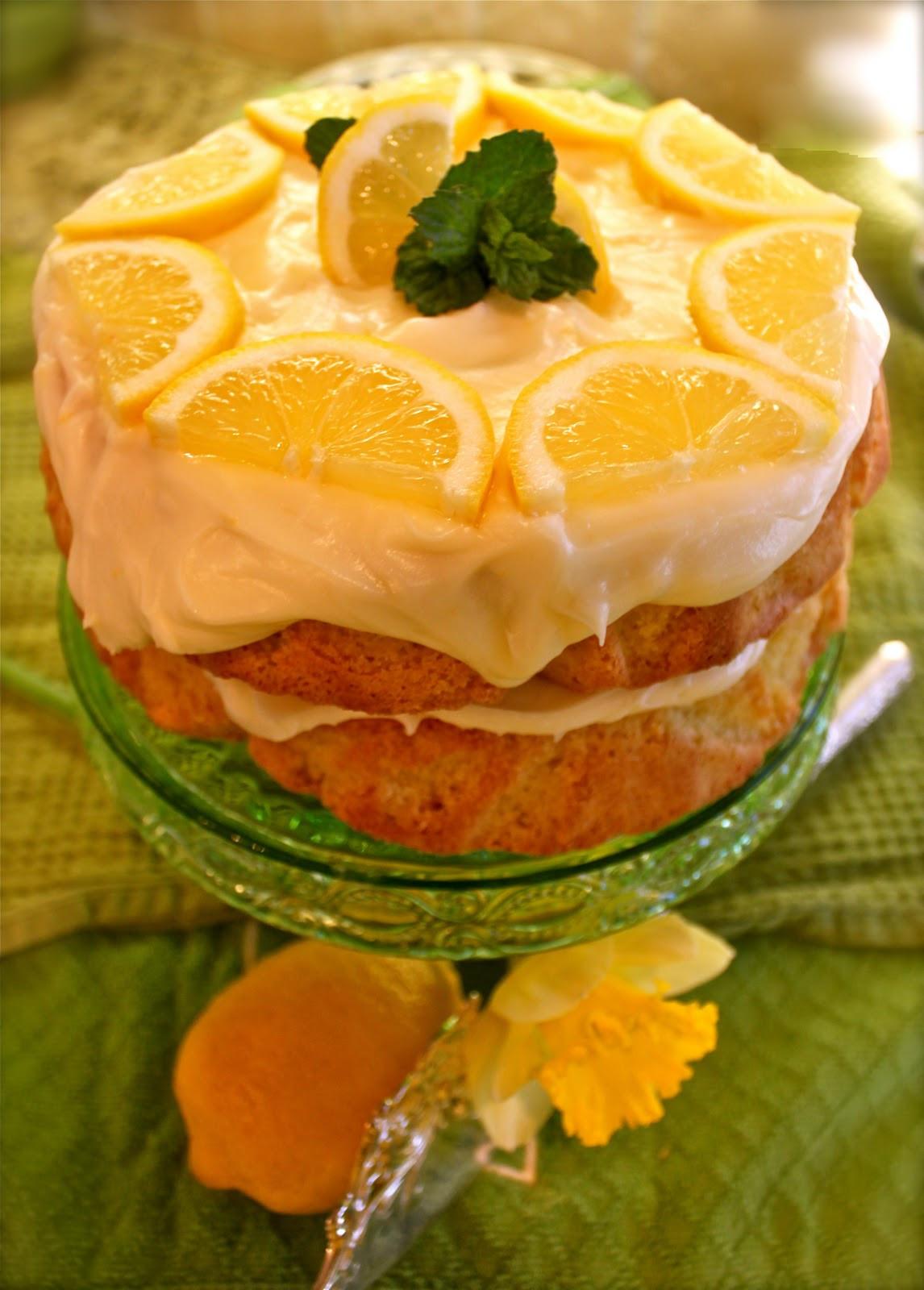 Lemon Layer Cake  Lemon Layer Cake with Limoncello Icing