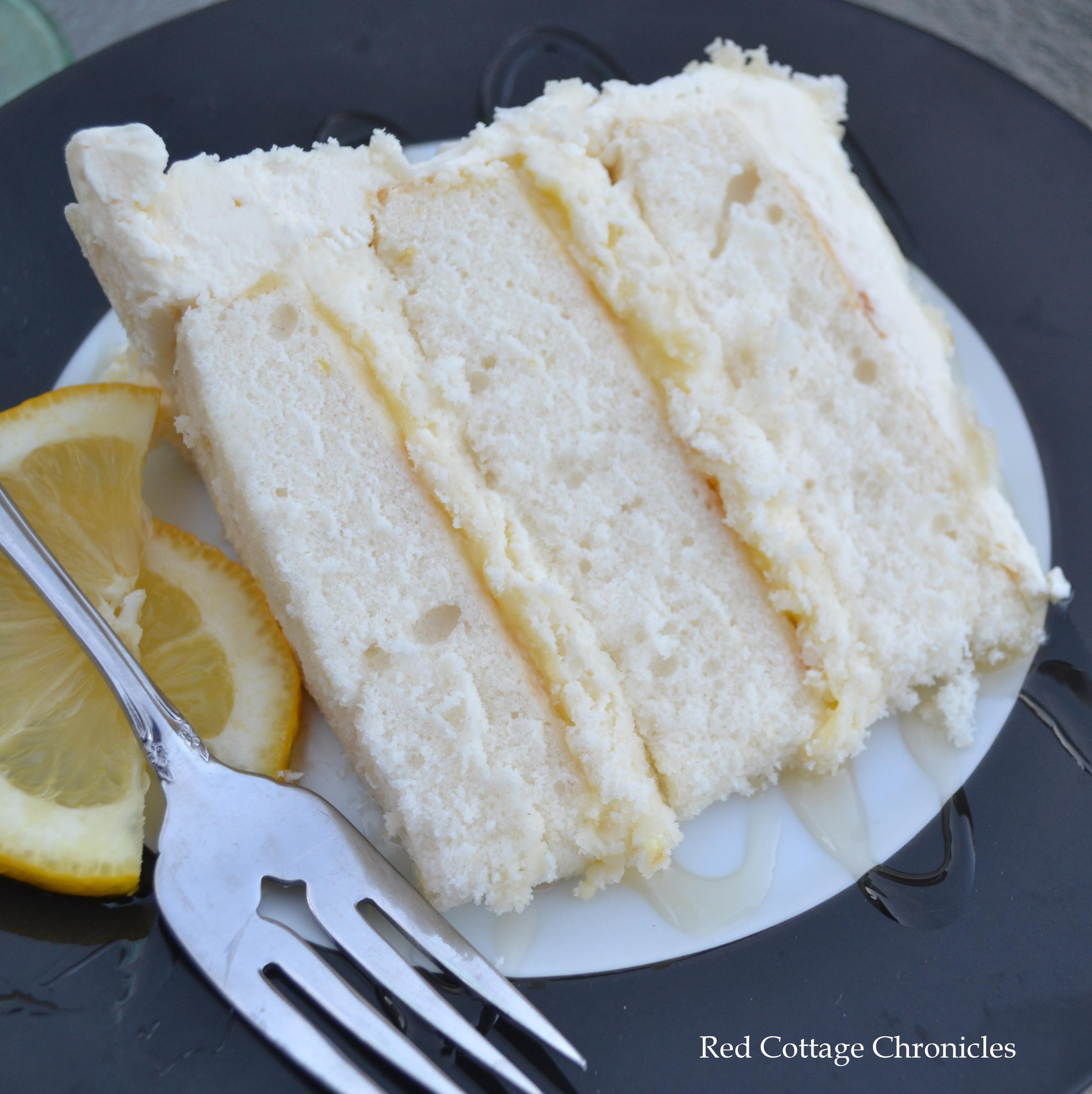 Lemon Layer Cake  Triple Lemon Buttercream Cake Red Cottage Chronicles