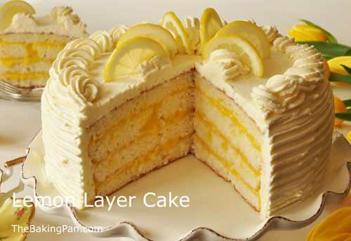 Lemon Layer Cake  Lemon Layer Cake Recipe